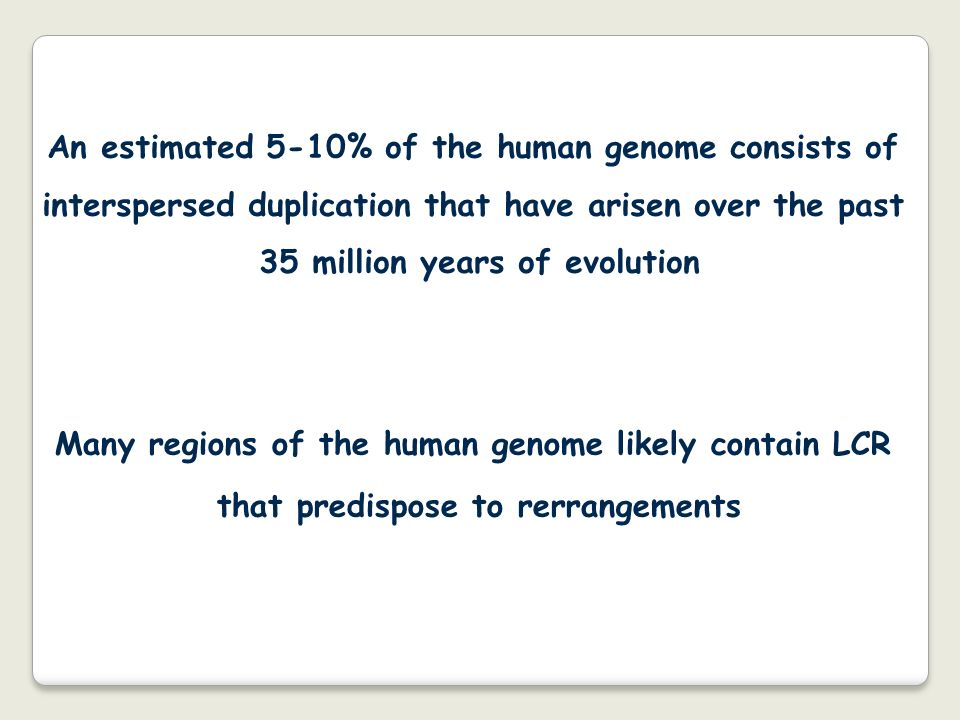 An estimated 5-10% of the human genome consists of