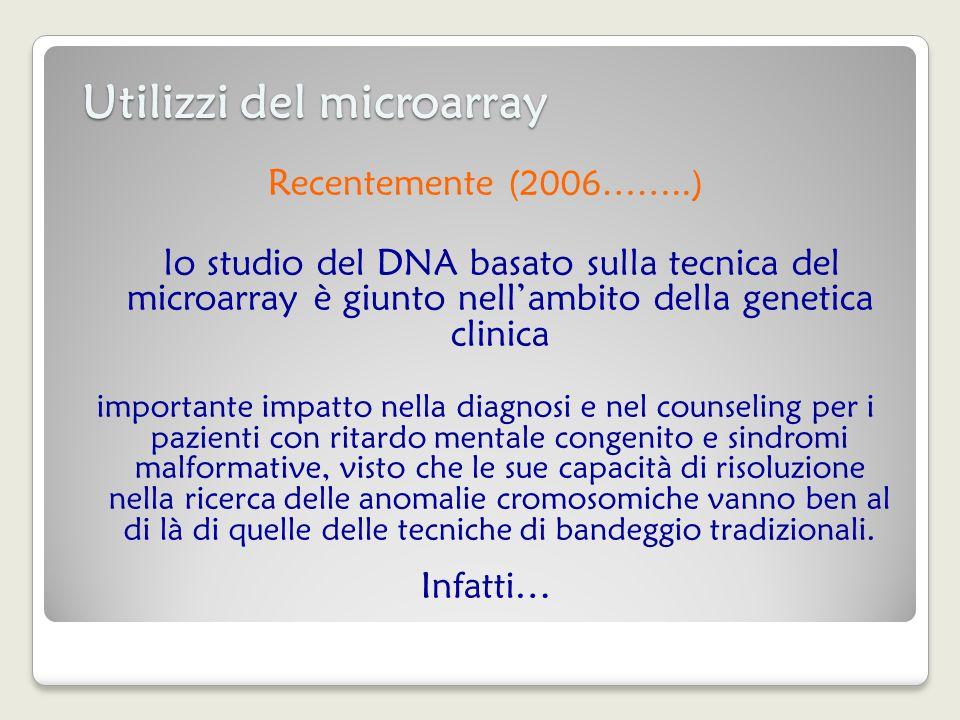 Utilizzi del microarray