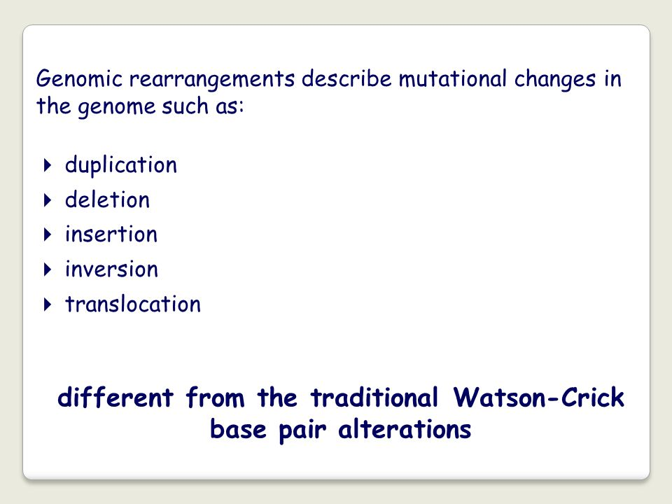 different from the traditional Watson-Crick base pair alterations