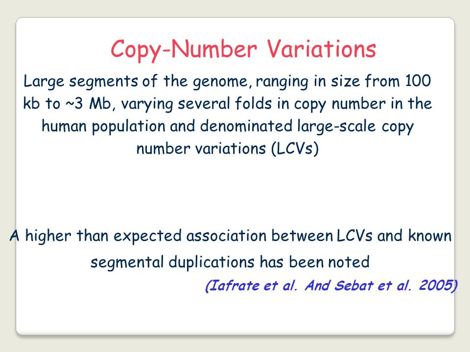 Copy-Number Variations