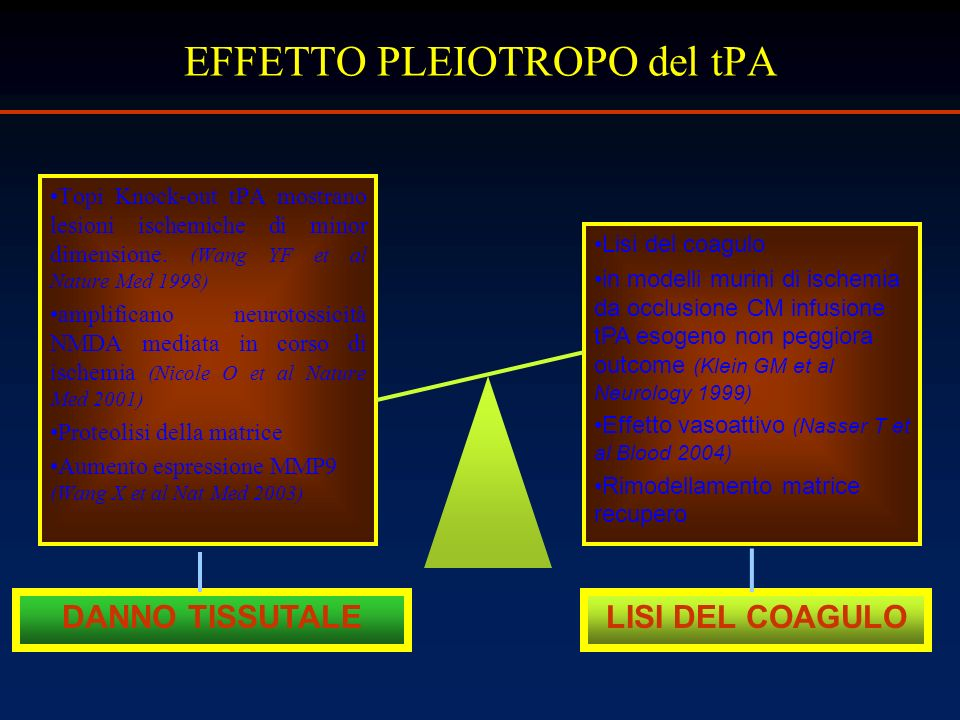 EFFETTO PLEIOTROPO del tPA