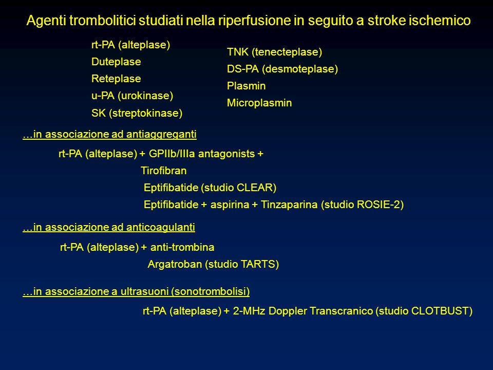 Agenti trombolitici studiati nella riperfusione in seguito a stroke ischemico