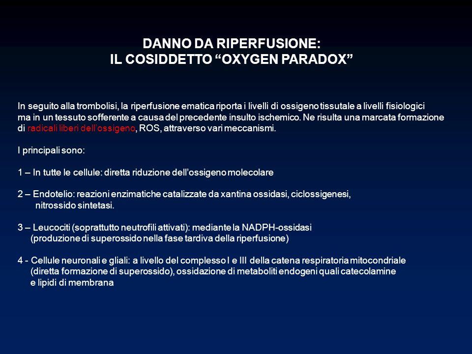 DANNO DA RIPERFUSIONE: IL COSIDDETTO OXYGEN PARADOX