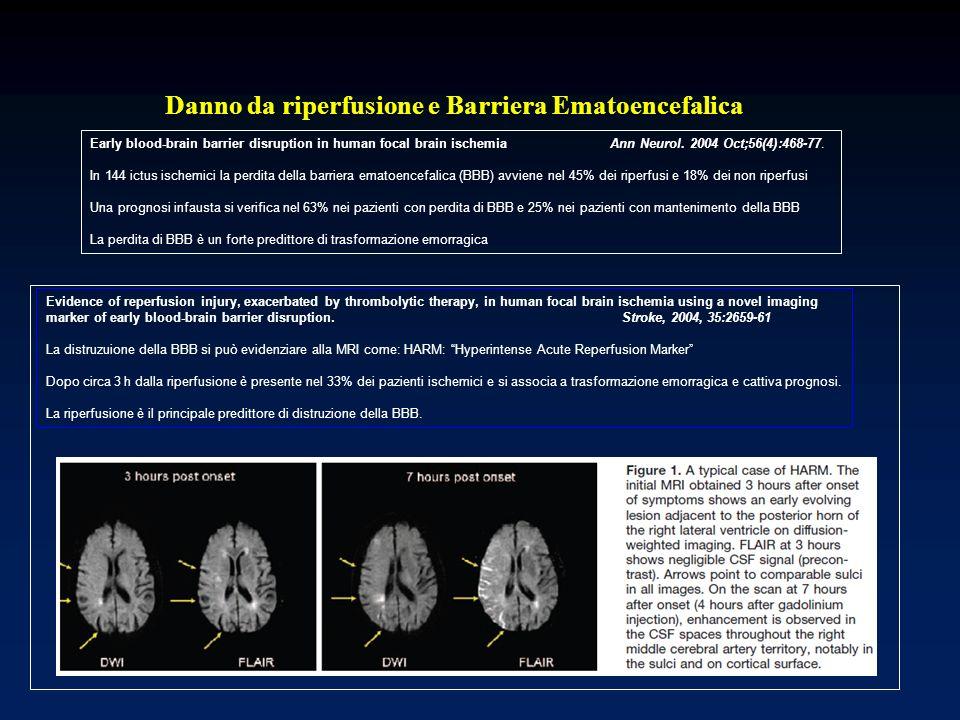 Danno da riperfusione e Barriera Ematoencefalica
