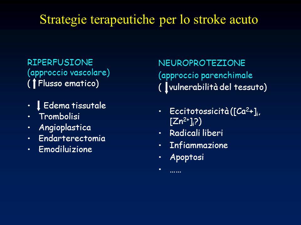 Strategie terapeutiche per lo stroke acuto