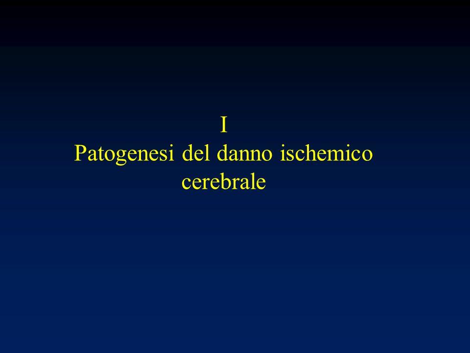 I Patogenesi del danno ischemico cerebrale