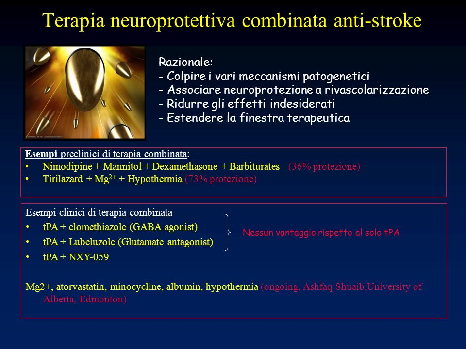 Terapia neuroprotettiva combinata anti-stroke