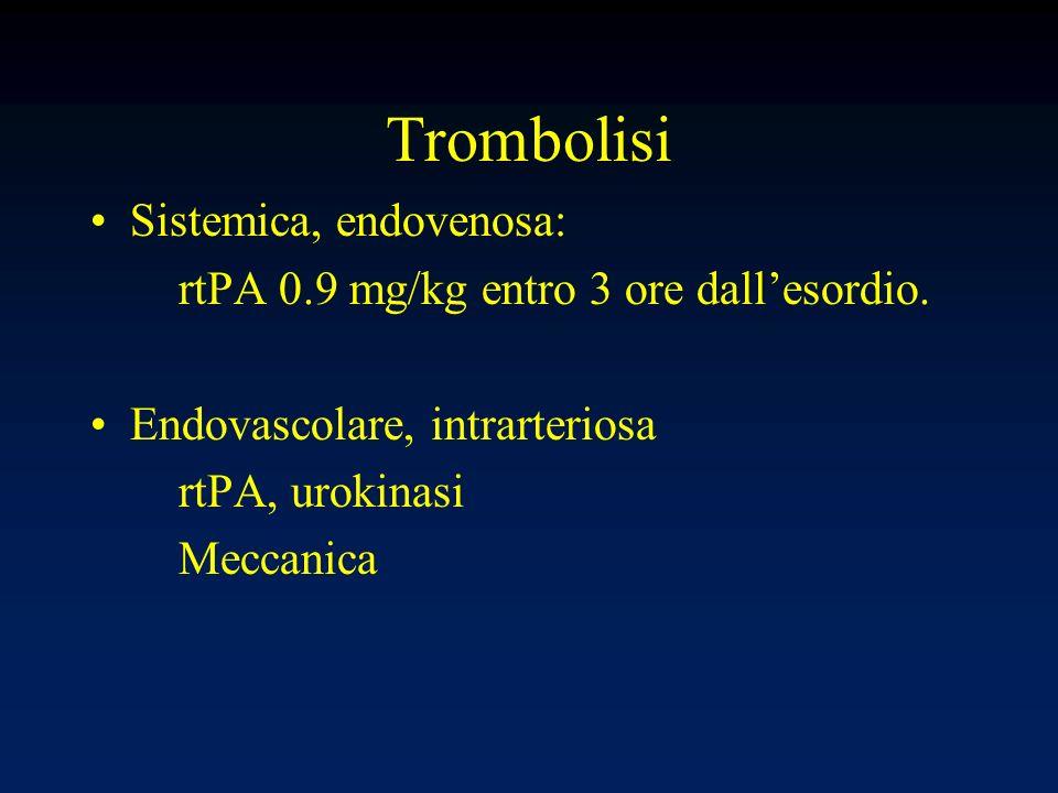 Trombolisi Sistemica, endovenosa:
