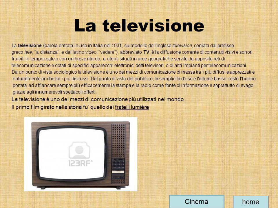 La televisione Cinema home