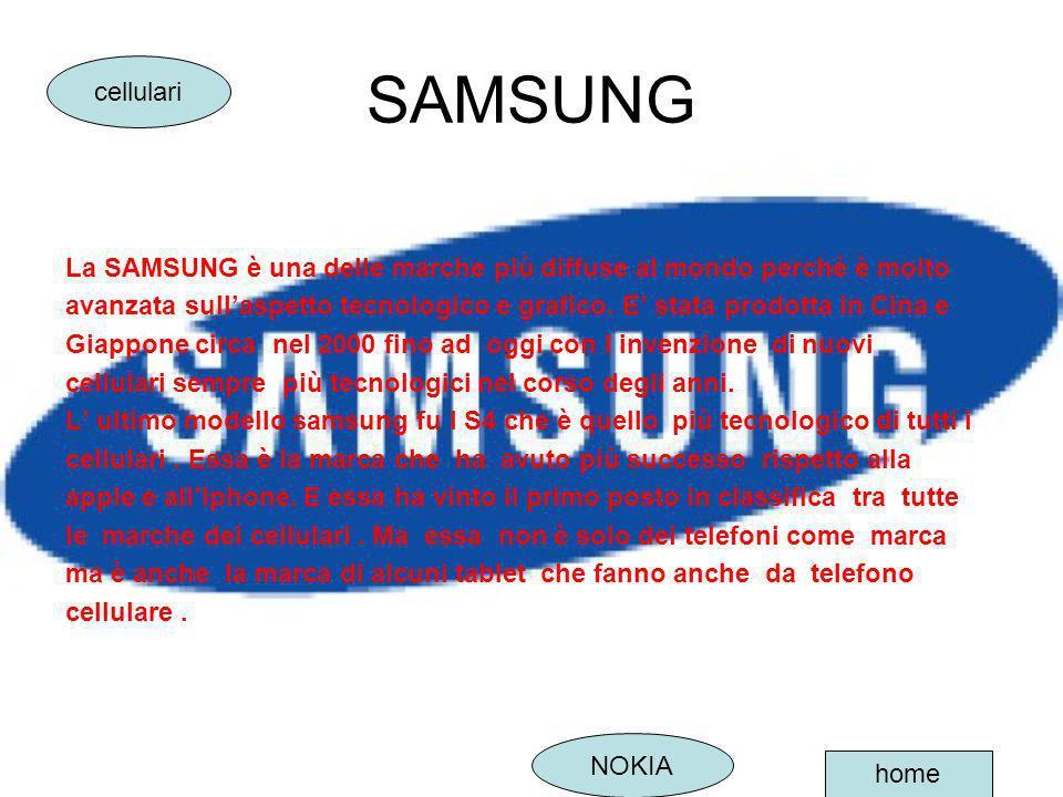SAMSUNG cellulari. La SAMSUNG è una delle marche più diffuse al mondo perché è molto.