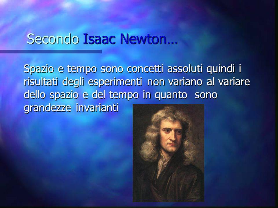 Secondo Isaac Newton…