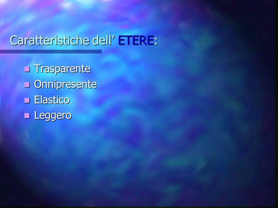 Caratteristiche dell' ETERE: