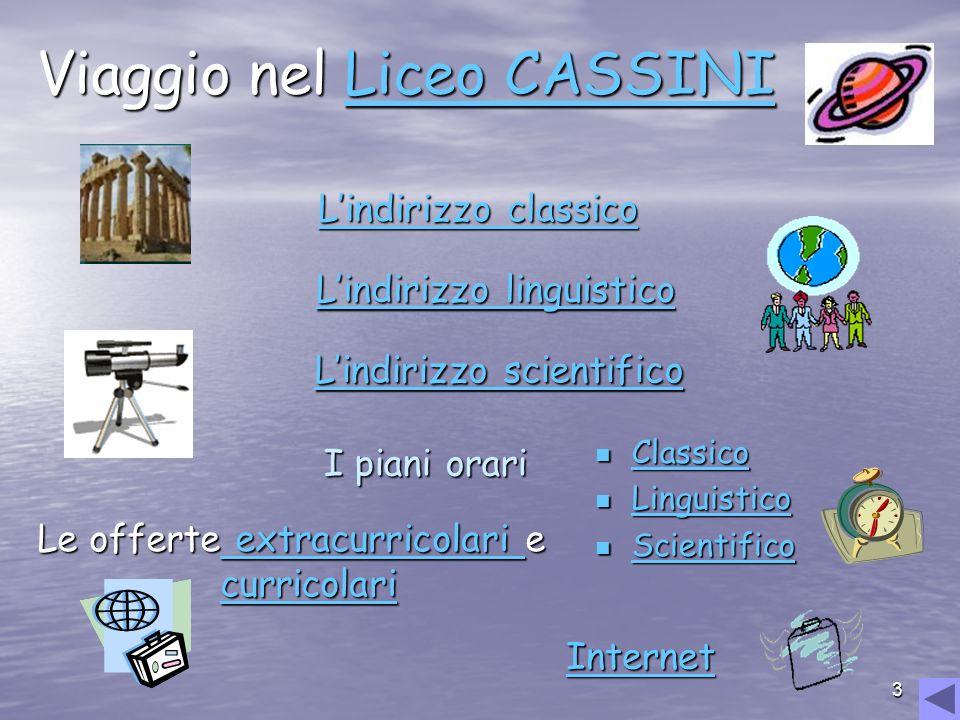 Viaggio nel Liceo CASSINI