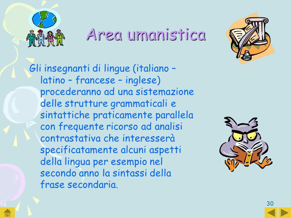 Area umanistica