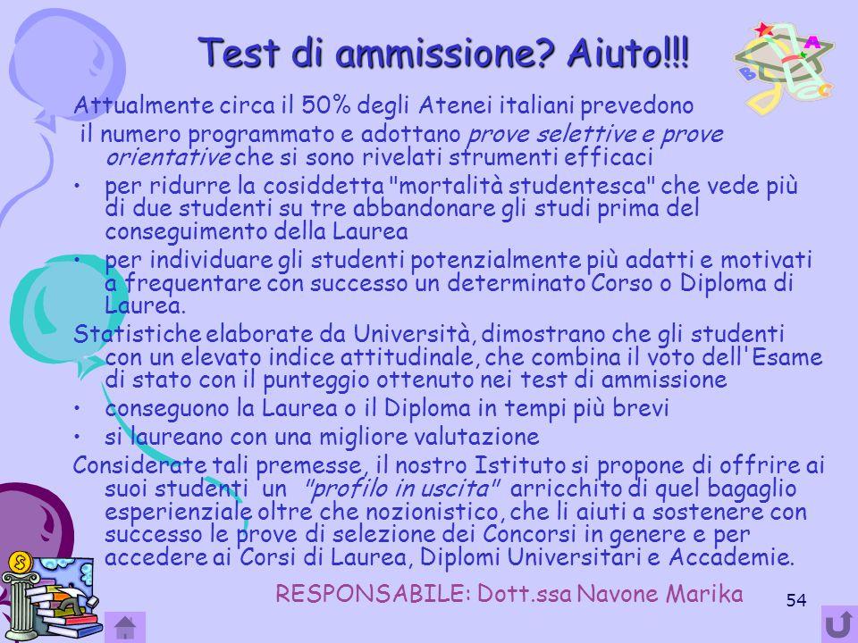 Test di ammissione Aiuto!!!