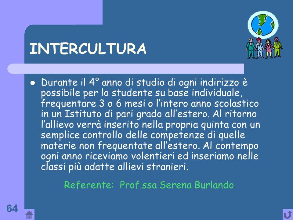 Referente: Prof.ssa Serena Burlando