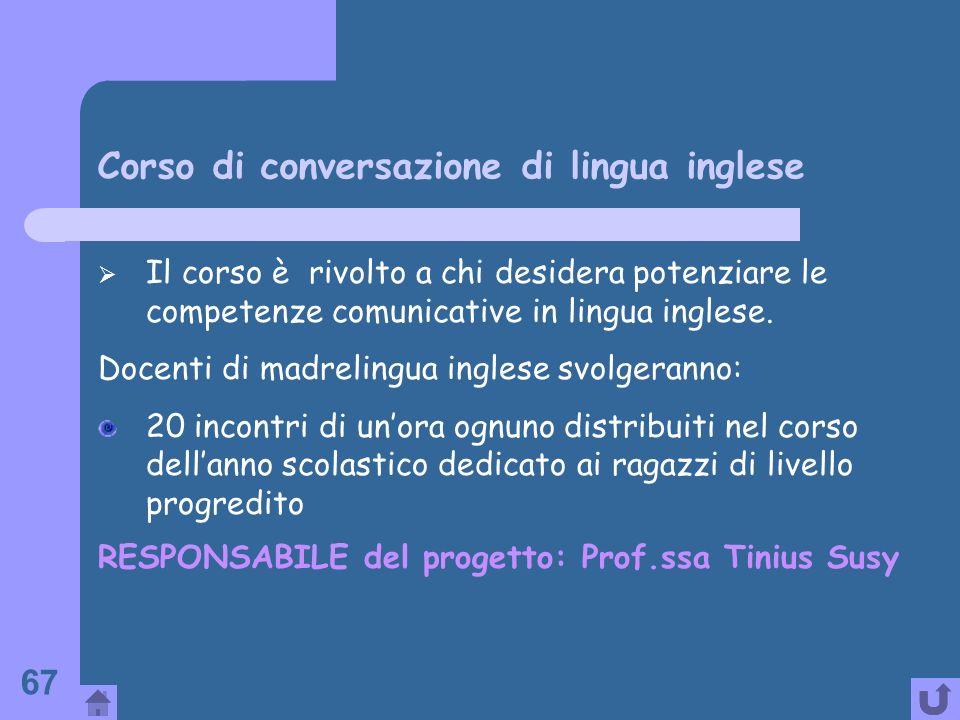 Corso di conversazione di lingua inglese