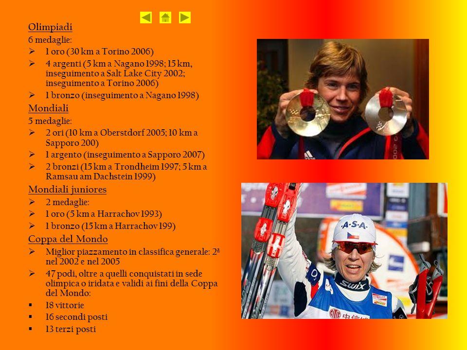 Olimpiadi Mondiali Mondiali juniores Coppa del Mondo 6 medaglie: