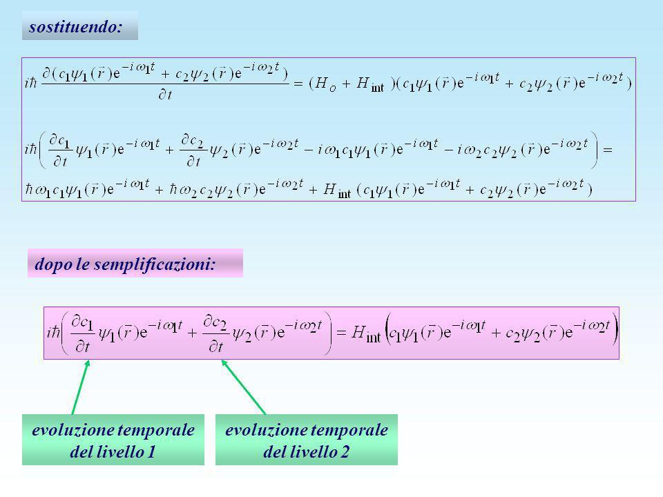 evoluzione temporale del livello 1 evoluzione temporale del livello 2