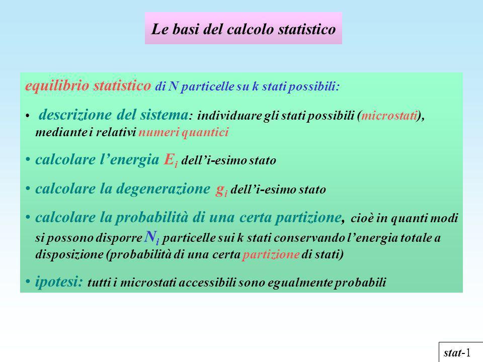 Le basi del calcolo statistico