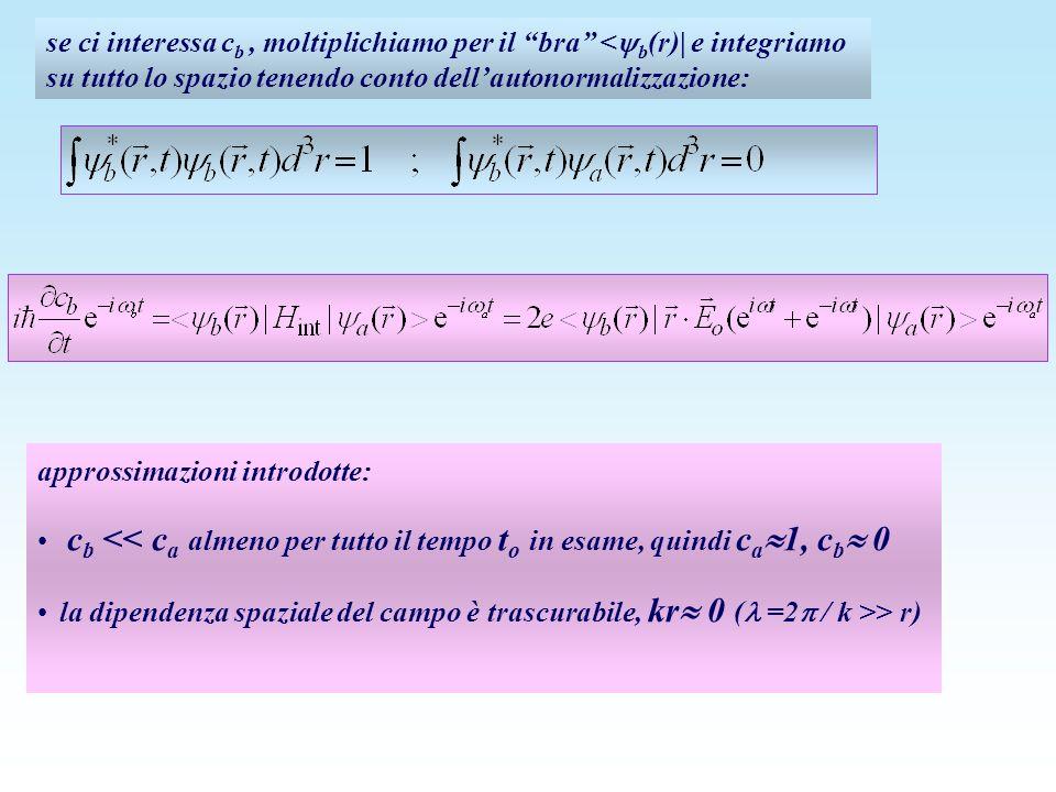 se ci interessa cb , moltiplichiamo per il bra <b(r)| e integriamo su tutto lo spazio tenendo conto dell'autonormalizzazione: