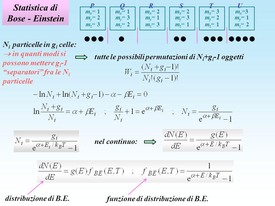 Statistica di Bose - Einstein