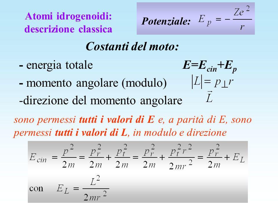 Atomi idrogenoidi: descrizione classica