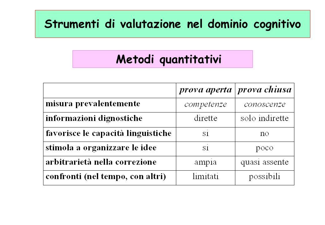 Strumenti di valutazione nel dominio cognitivo