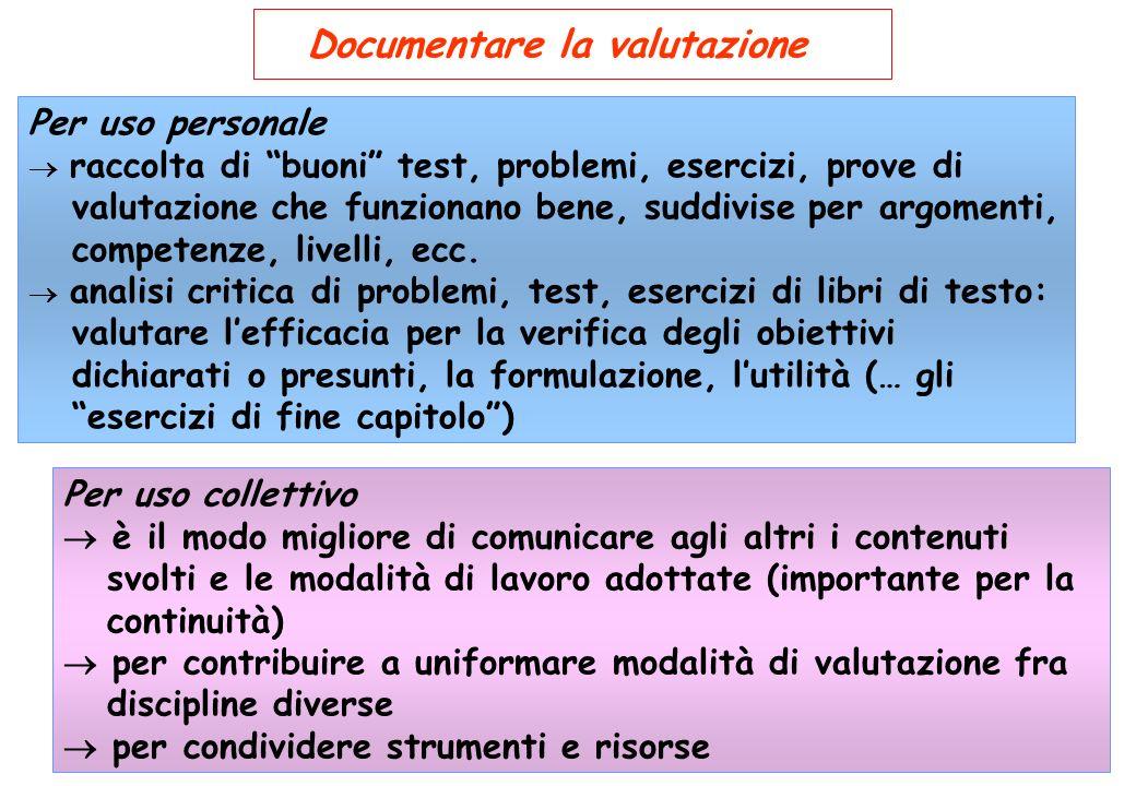 Documentare la valutazione