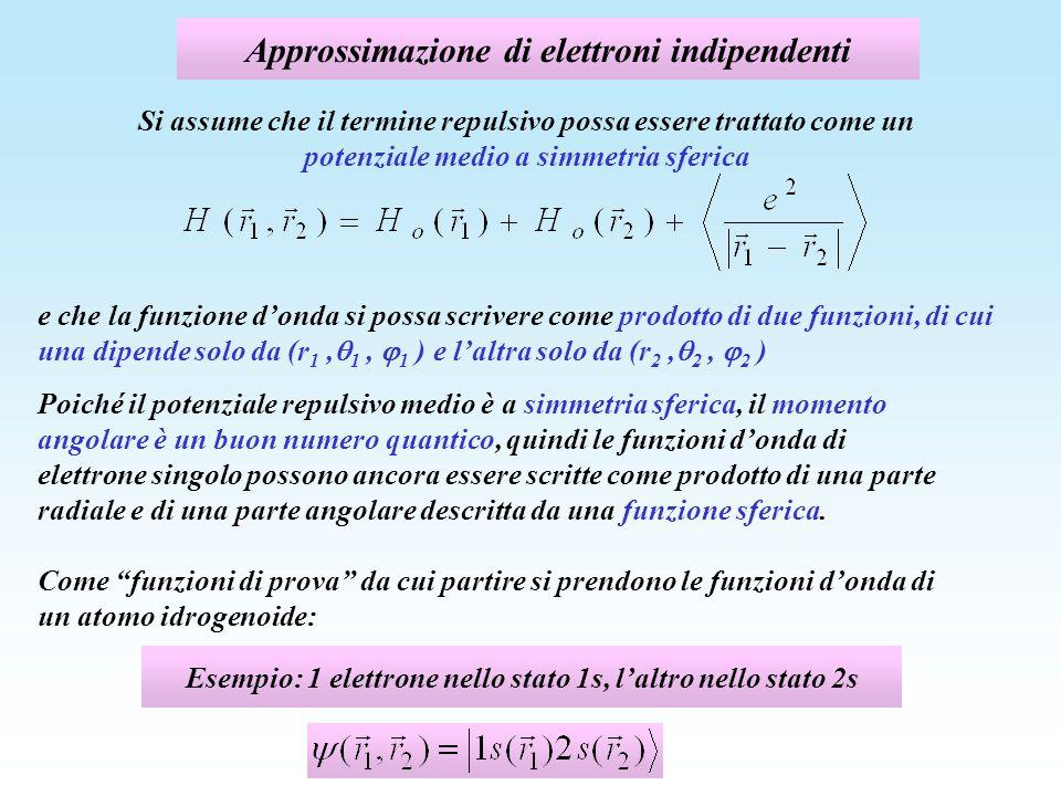 Approssimazione di elettroni indipendenti