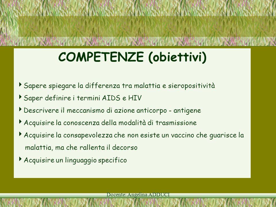 COMPETENZE (obiettivi)
