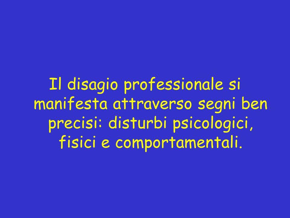 Il disagio professionale si manifesta attraverso segni ben precisi: disturbi psicologici, fisici e comportamentali.