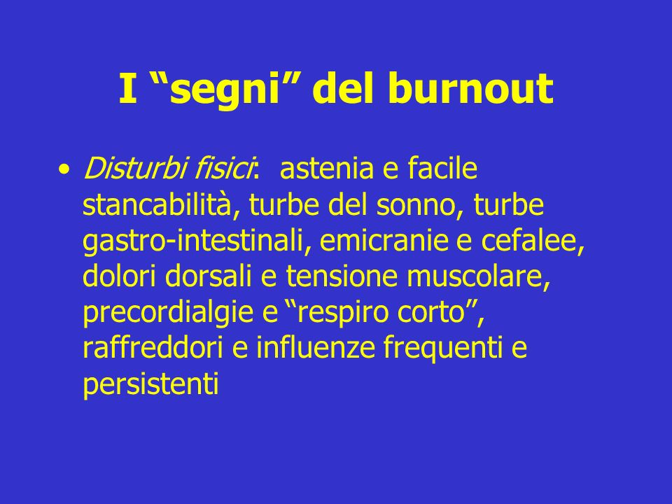 I segni del burnout