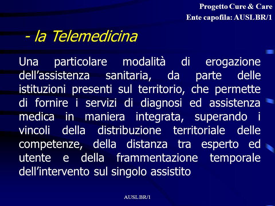 Progetto Cure & Care Ente capofila: AUSL BR/1. - la Telemedicina.