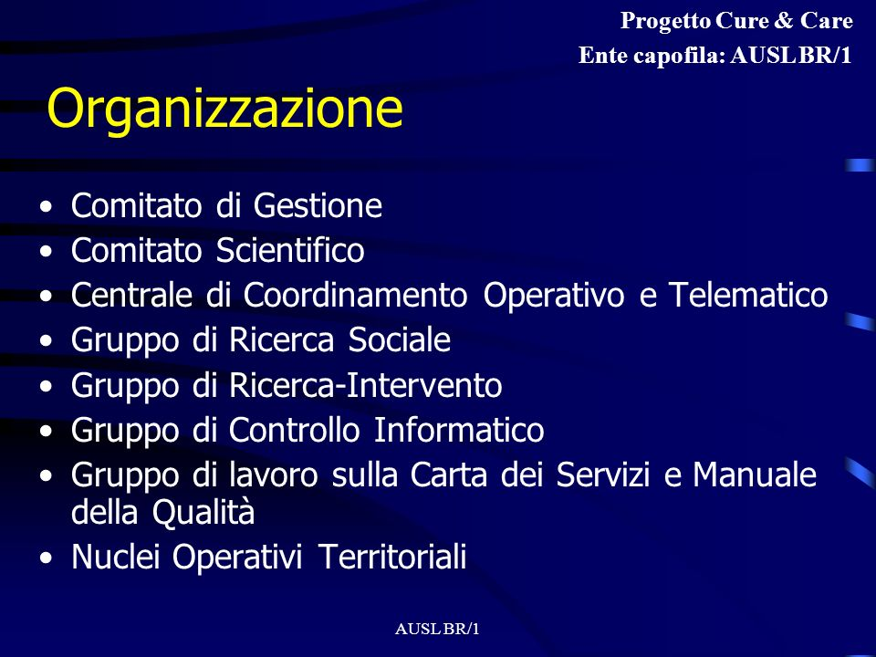 Organizzazione Comitato di Gestione Comitato Scientifico