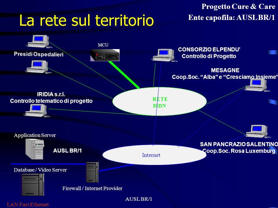 La rete sul territorio Progetto Cure & Care Ente capofila: AUSL BR/1