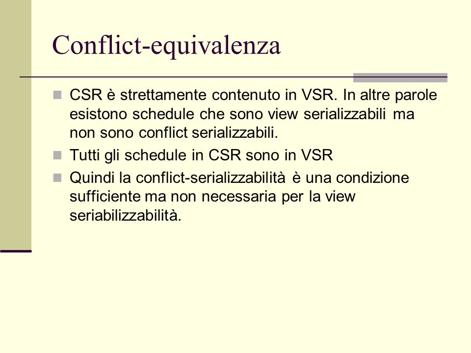 Conflict-equivalenza