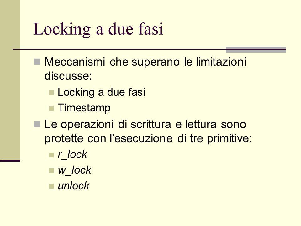 Locking a due fasi Meccanismi che superano le limitazioni discusse: