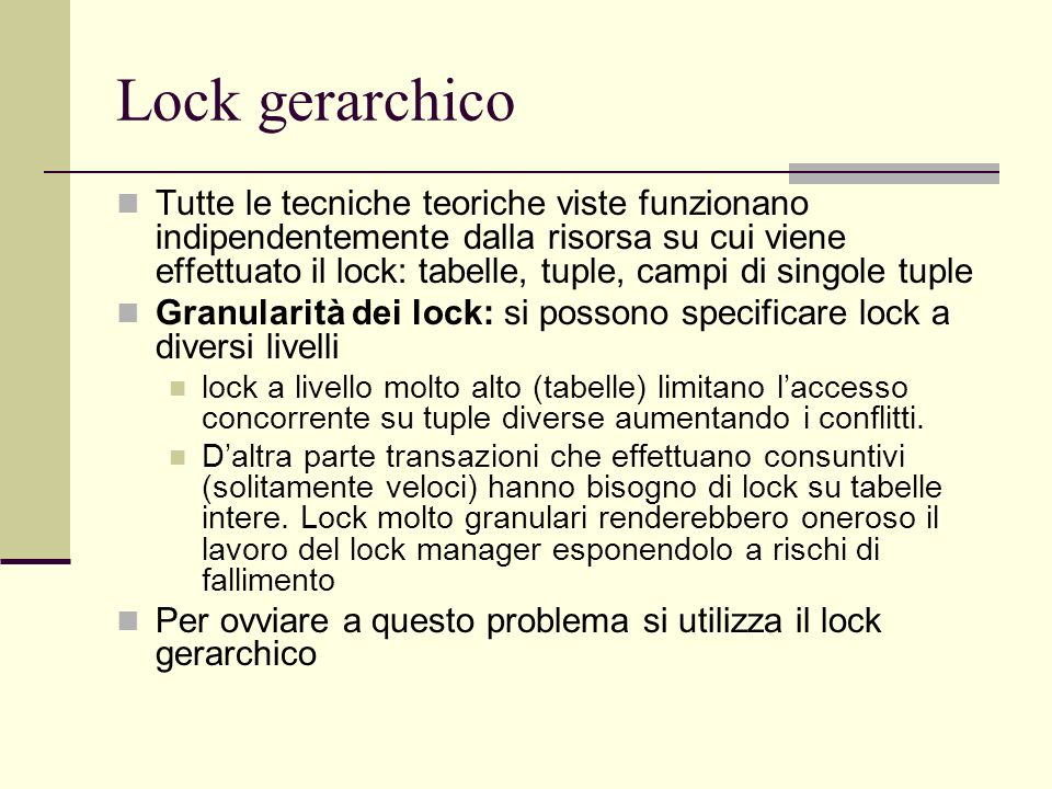 Lock gerarchico