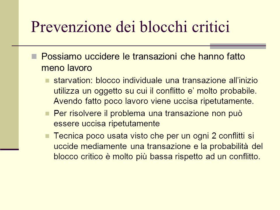 Prevenzione dei blocchi critici
