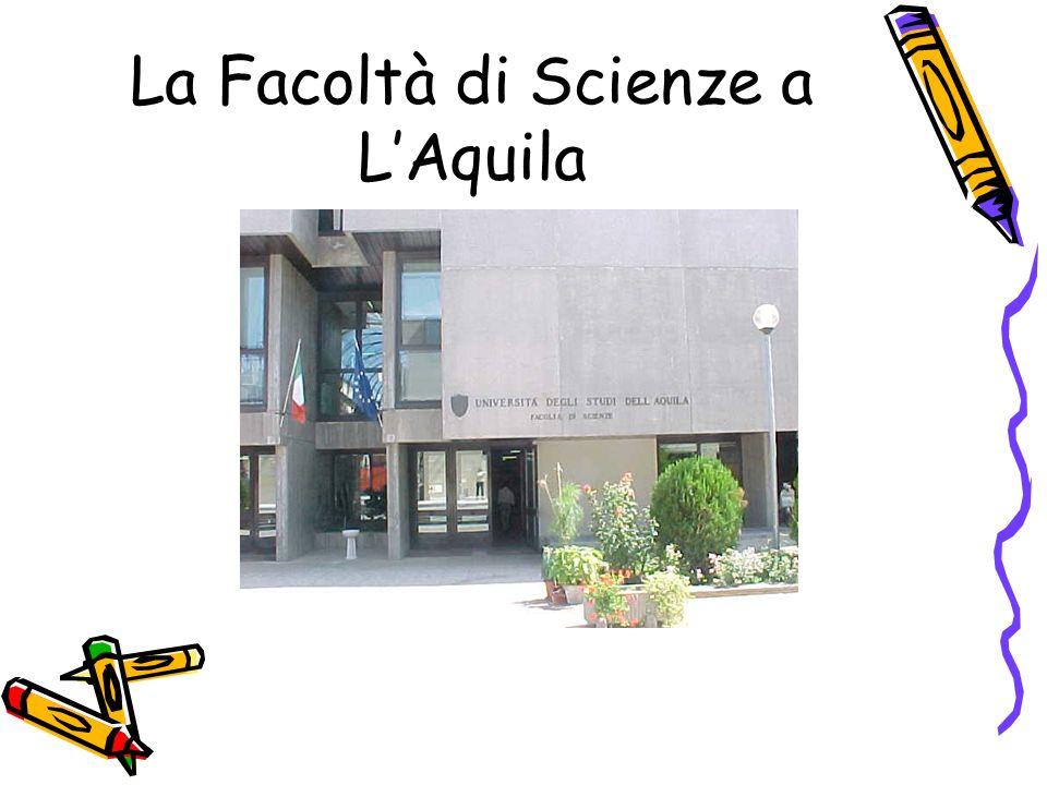 La Facoltà di Scienze a L'Aquila
