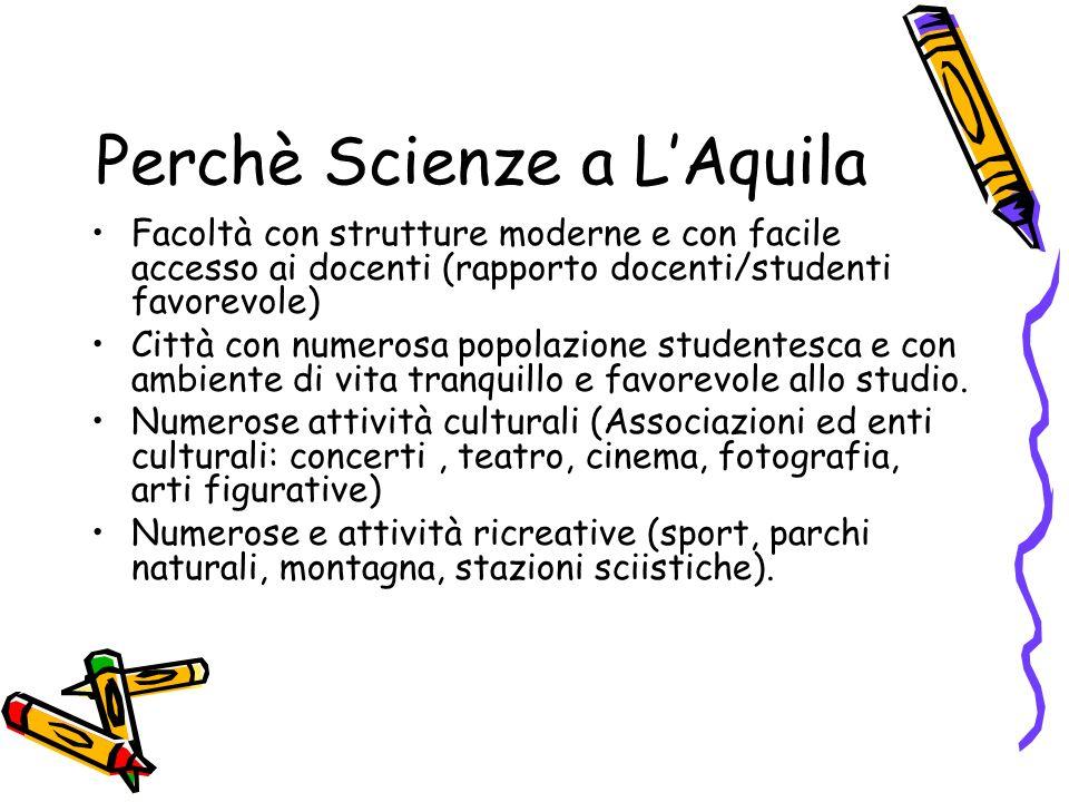 Perchè Scienze a L'Aquila