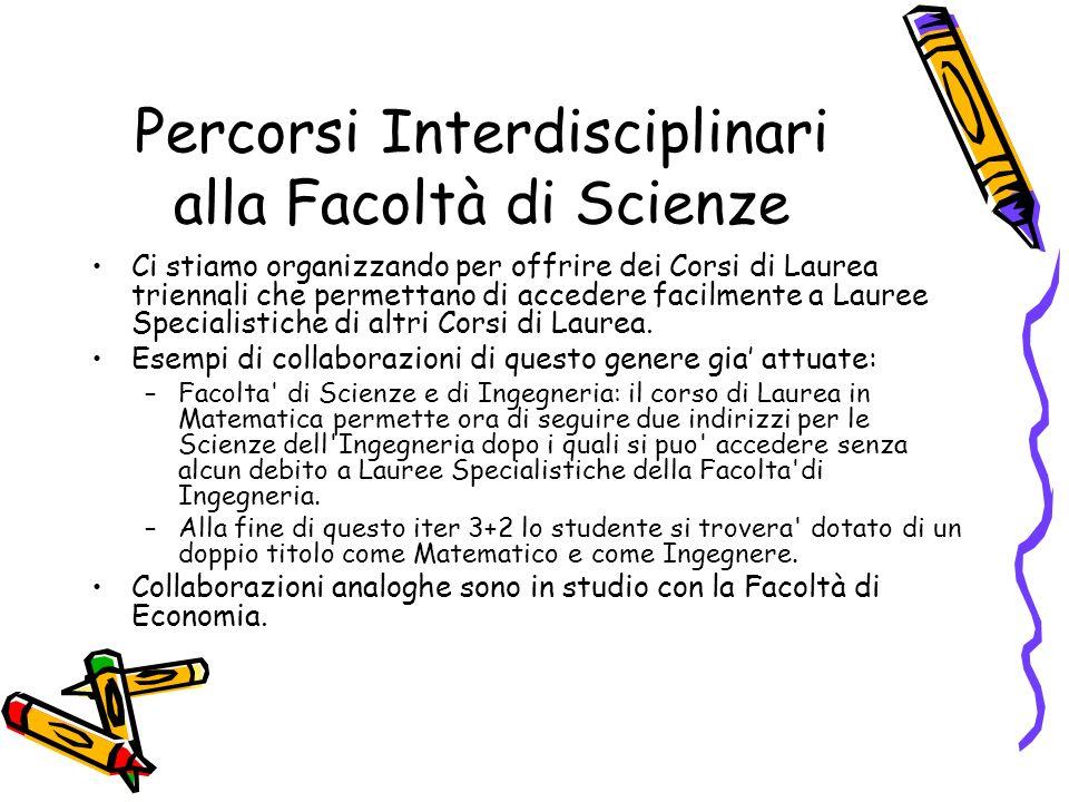 Percorsi Interdisciplinari alla Facoltà di Scienze