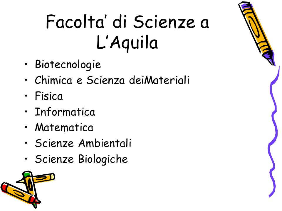 Facolta' di Scienze a L'Aquila