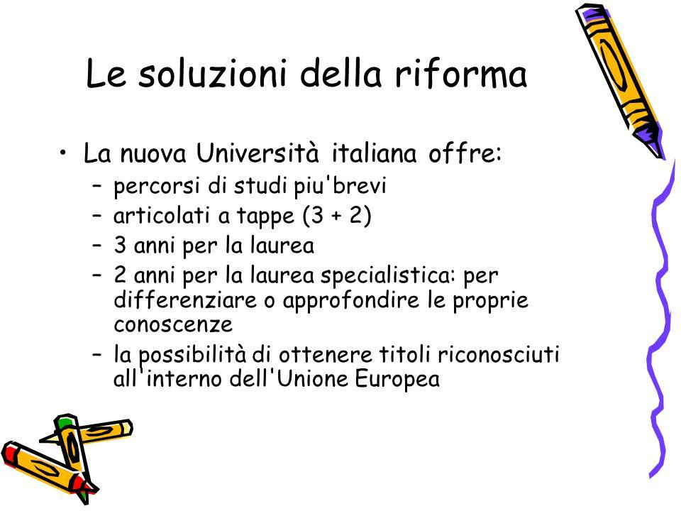 Le soluzioni della riforma