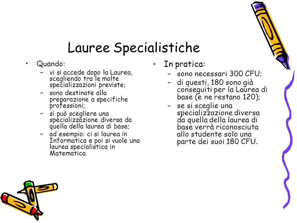 Lauree Specialistiche