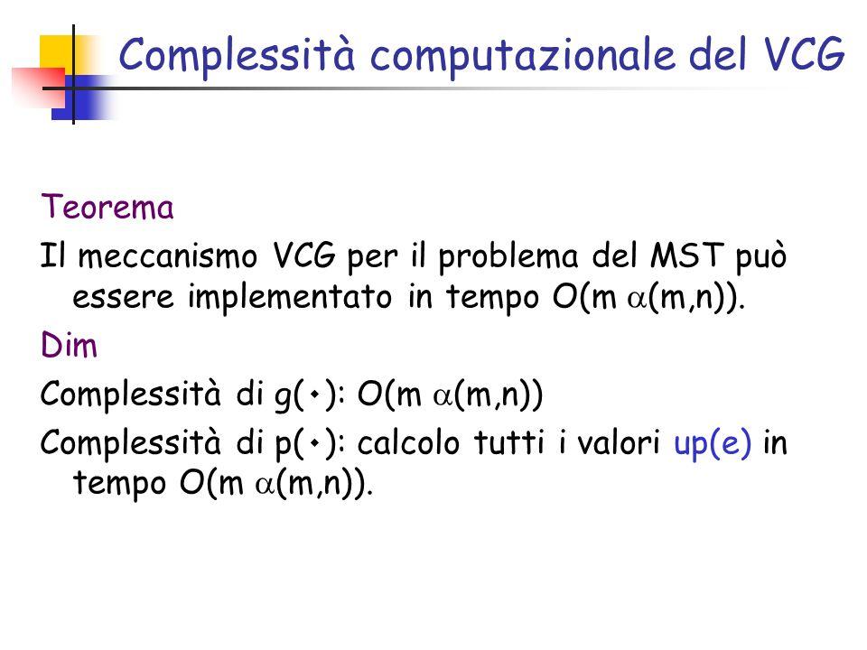 Complessità computazionale del VCG