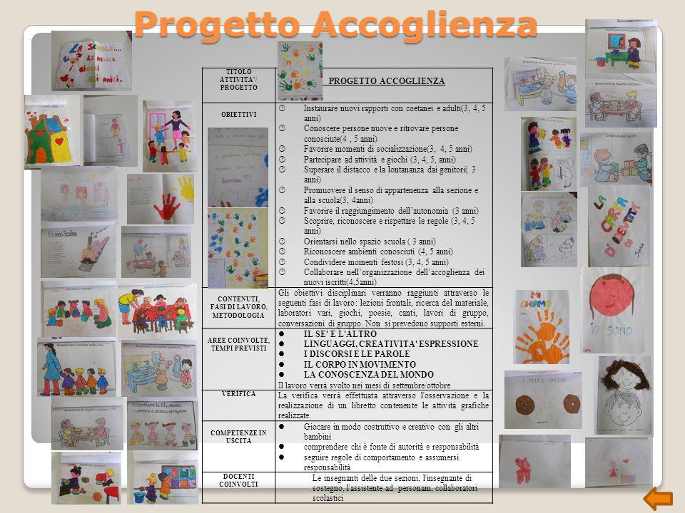 Progetto Accoglienza PROGETTO ACCOGLIENZA