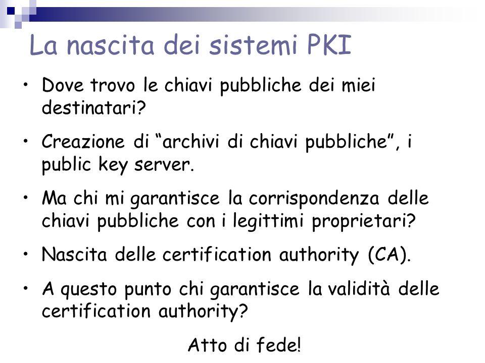 La nascita dei sistemi PKI