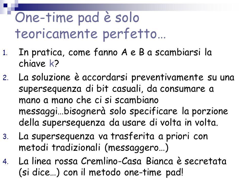 One-time pad è solo teoricamente perfetto…